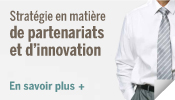 Strat�gie en mati�re de partenariats et d'innovation