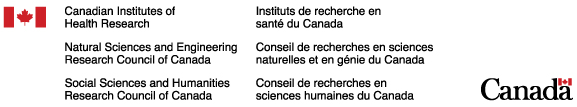 CIHR, NSERC and SSHRC