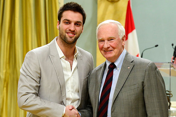 Jérémy Leconte, University of Toronto; His Excellency the Right Honorable David Johnston, Governor General of Canada