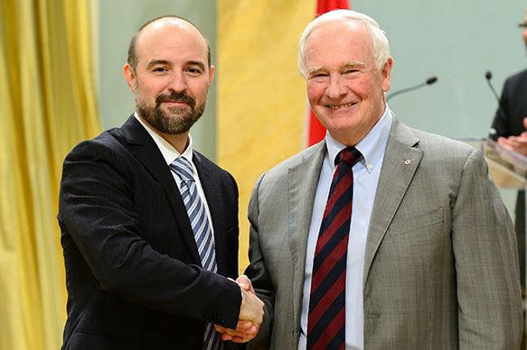 Aaron Wheeler, University of Toronto; His Excellency the Right Honorable David Johnston, Governor General of Canada