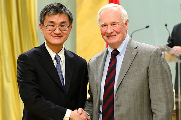 Wei Yu, University of Toronto; His Excellency the Right Honorable David Johnston, Governor General of Canada