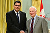 Daniel Ansari, Western University; His Excellency the Right Honorable David Johnston, Governor General of Canada