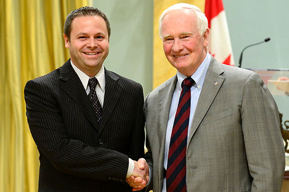 Steven J. Cooke, Carleton University; His Excellency the Right Honorable David Johnston, Governor General of Canada