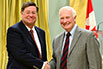 David Blowes, University of Waterloo; His Excellency the Right Honorable David Johnston, Governor General of Canada