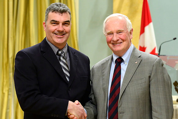 Richard Amos, Carleton University; His Excellency the Right Honorable David Johnston, Governor General of Canada