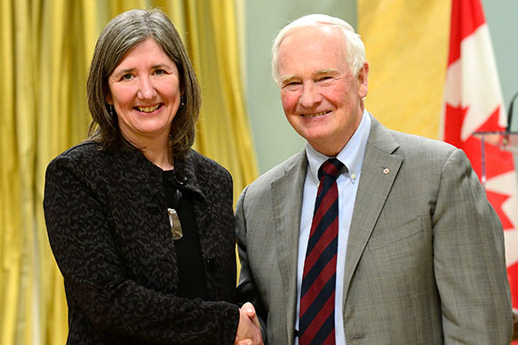 Anne-Marie Giroux, Hydro-Québec; His Excellency the Right Honorable David Johnston, Governor General of Canada
