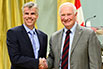 Normand Désy, Andritz Hydro Canada Inc.; His Excellency the Right Honorable David Johnston, Governor General of Canada