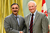 Robin Sinha, CanmetENERGY, Natural Resources Canada; His Excellency the Right Honorable David Johnston, Governor General of Canada