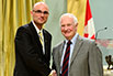 Paul Schaffer, TRIUMF; His Excellency the Right Honorable David Johnston, Governor General of Canada
