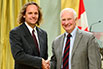 Chris Eliasmith, University of Waterloo; His Excellency the Right Honorable David Johnston, Governor General of Canada