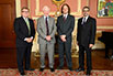 The Honorable Ed Holder, Minister of State (Science & Technology); His Excellency the Right Honorable David Johnston, Governor General of Canada; Chris Eliasmith, University of Waterloo; B. Mario Pinto, President, NSERC