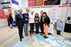 The Honourable Kirsty Duncan, Minister of Science and Sport and Dr. B. Mario Pinto visiting the Students on Ice Foundation exhibit at the STEM Expo